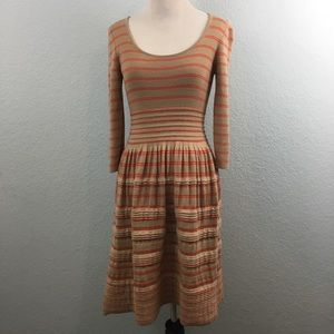 Knitted & Knotted Elodie Striped Sweater Dress XS